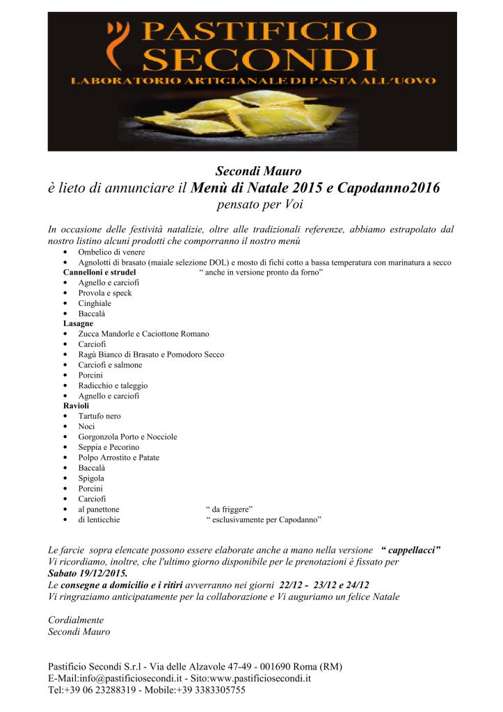 il menu di natale 2015 e capodanno 2016 pastificio secondi-1
